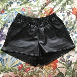 NWT H&M Pleather Shorts